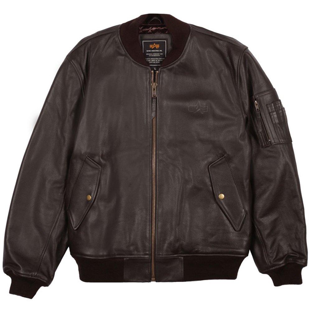 Mens leather flight jacket
