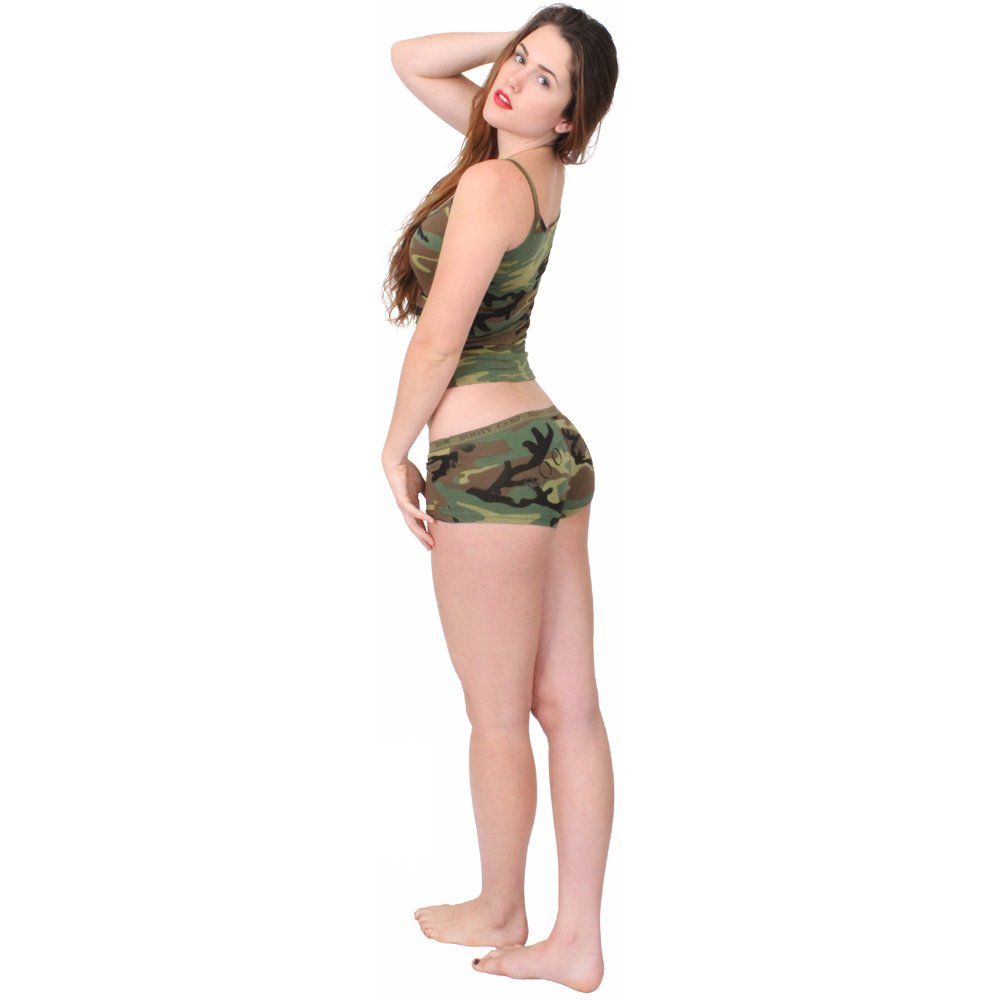 6e9970e501 Womens Woodland Camo Booty Camp Booty Short