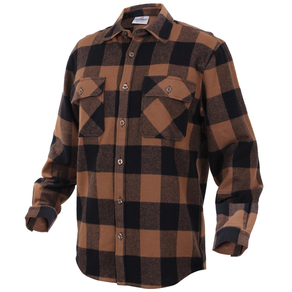 mens extra heavyweight buffalo plaid flannel shirts