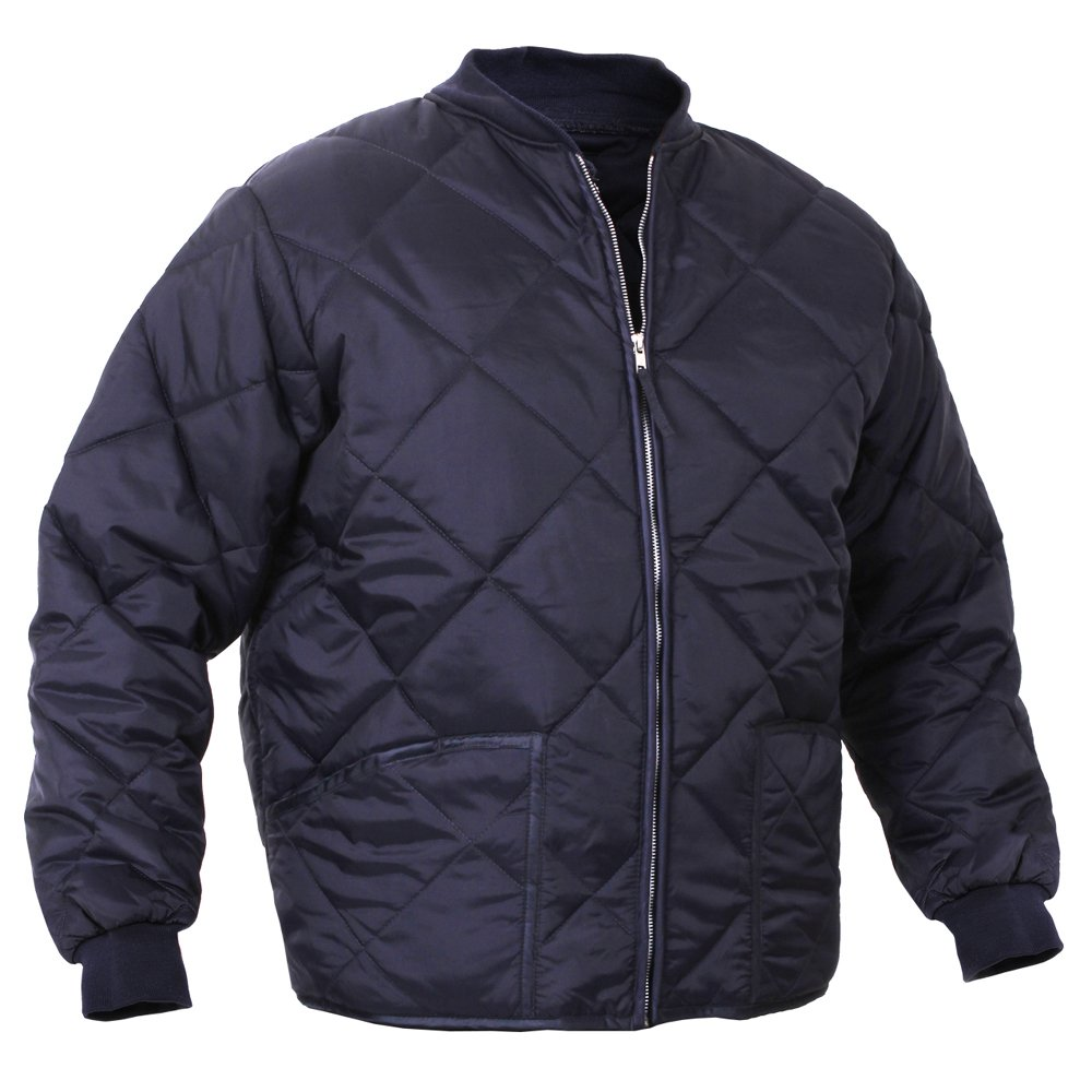 Mens Diamond Quilted Nylon Jacket