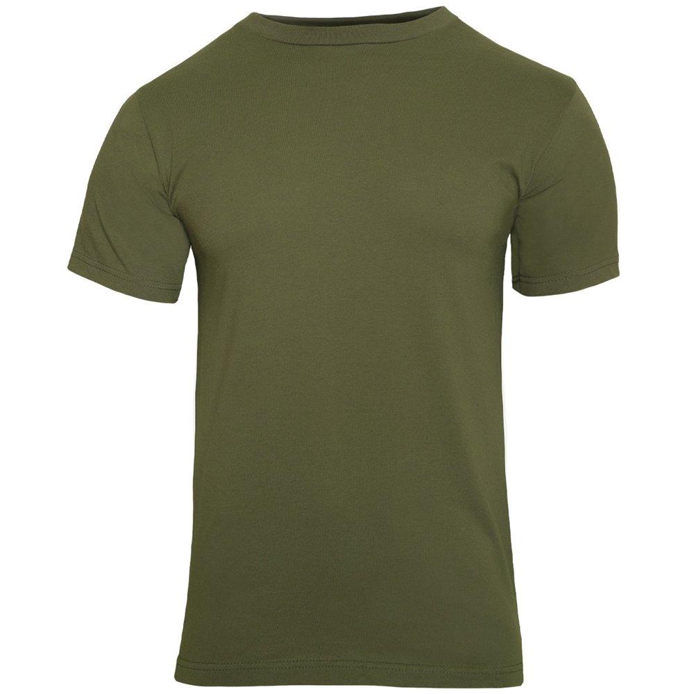 Mens Solid Color 100 Percent Cotton T Shirt