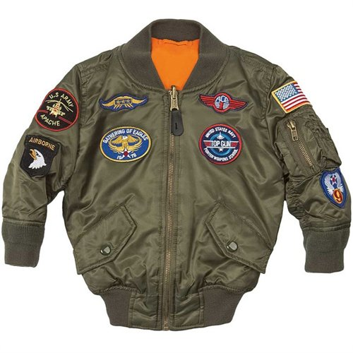 Alpha Boys MA-1 Jacket with Patches
