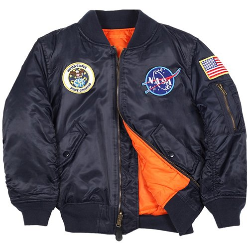 Alpha Youth NASA MA-1 Flight Jacket