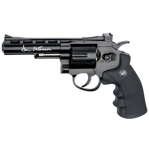 Dan Wesson 4 Inch CO2 Black 4.5Mm Blowback Revolver