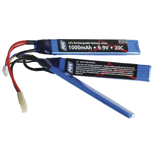ASG 1000 MAH LI-FE 9.9V Sticks Battery