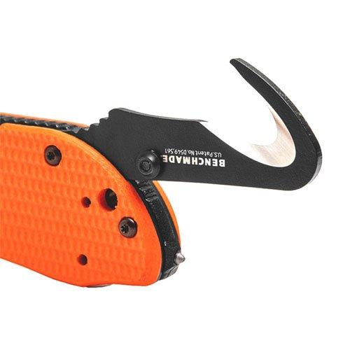 Benchmade Triage Black Folding Knife - Orange Handle