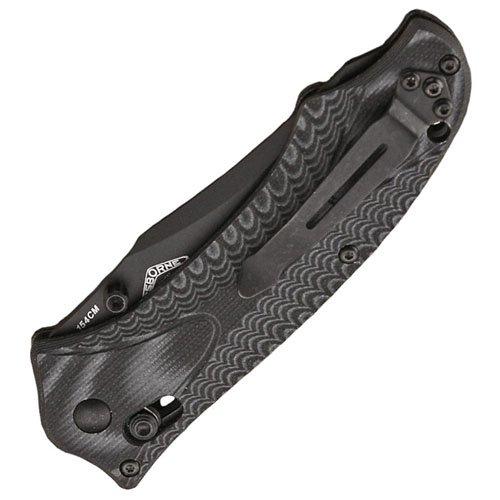 Benchmade Rift Black Folding Knife - Gray Handle