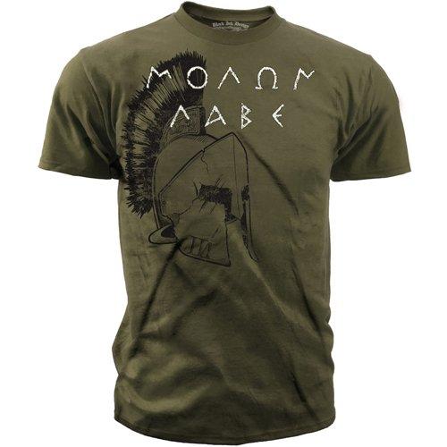 Black Ink Design Spartan Molon Labe T-Shirt