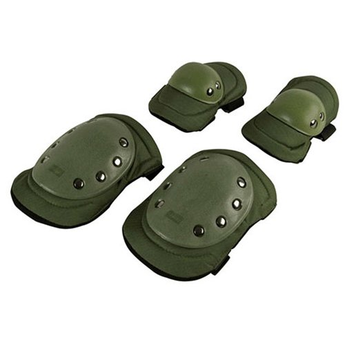 Olive Drab Knee And Elbow Pad Set