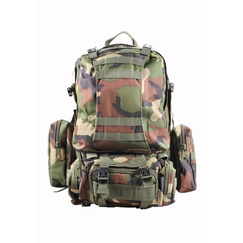 MOLLE Large Compatible Woodland Backpack