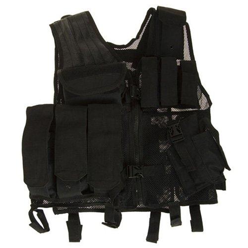 Black Tactical Cross Draw Vest