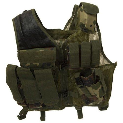 Woodland Tactical Cross Draw Vest