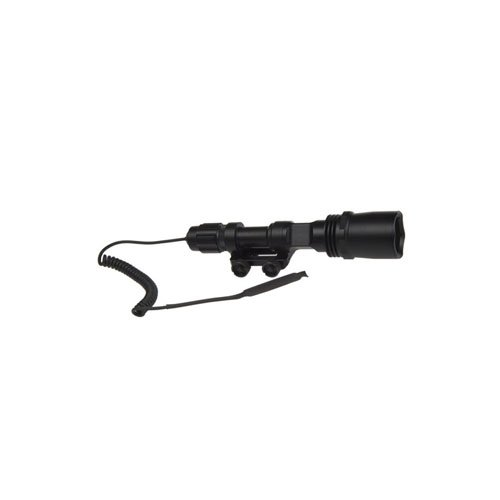 Large Tactical Flashlight with Rail