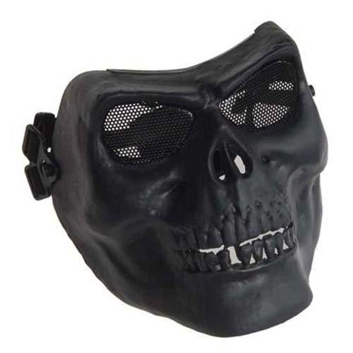 Black Distressed Worrior Plastic Face Mask