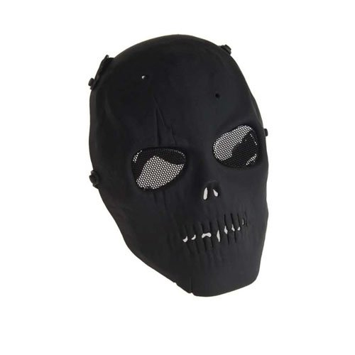 Black Distressed Delux Army Of Two Plastic Face Mask