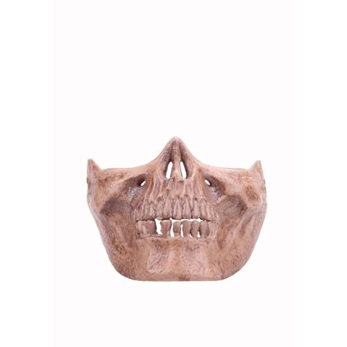 Khaki Worrior Half Face Mask Without Eyes