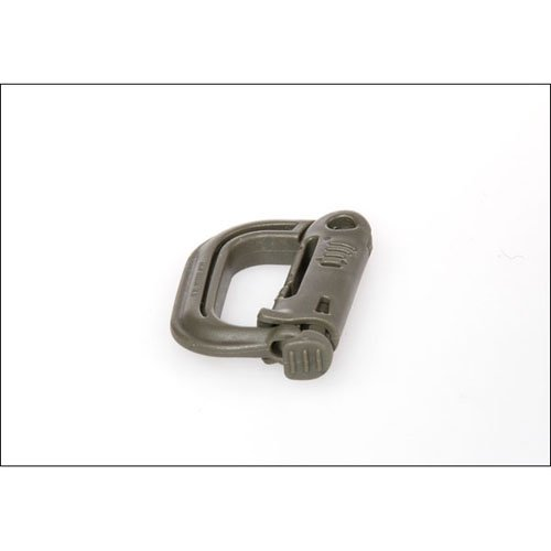 Olive Drab Military Plastic Carbiner
