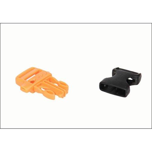 Orange-Black Buckle with Whistle