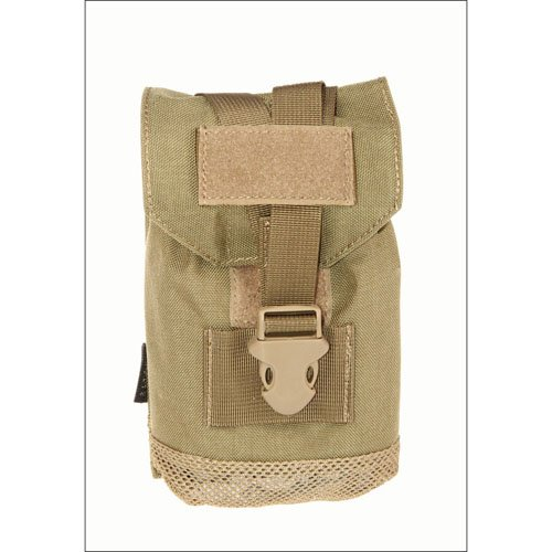 Tan Tactical Pouch with Mesh Bottom