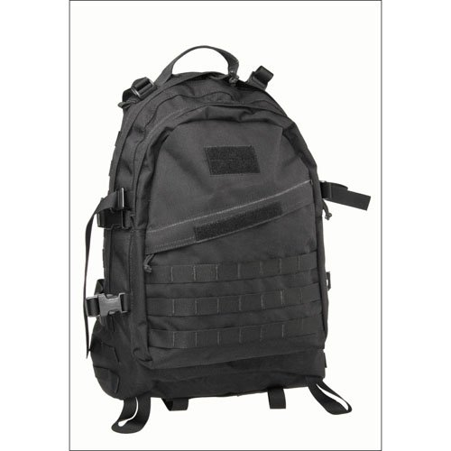 1000D Assault Backpack - Black