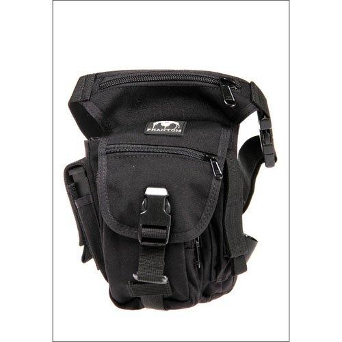 1000D Assault Black Bag with Drop Down Attachment