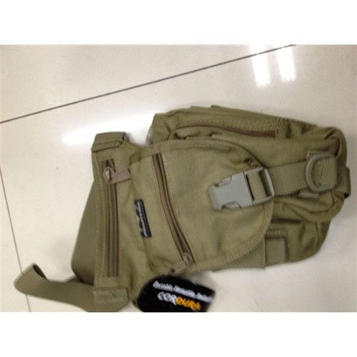 1000D Assault Tan Bag with Drop Down Attachment