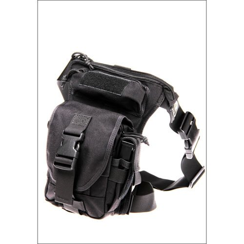 Large Assault Black Bag with Drop Down Attachment