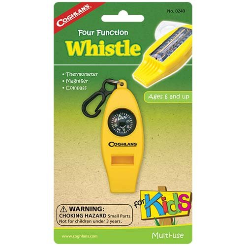 Coghlans 0240 Four Function Kids Whistle