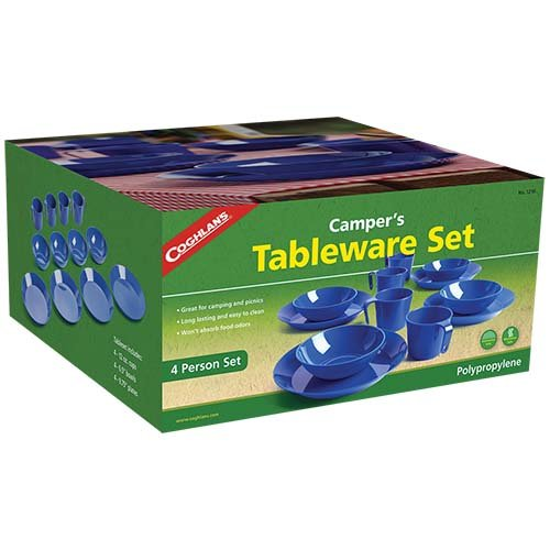 Coghlans 1210 4 Person Campers Tableware Set