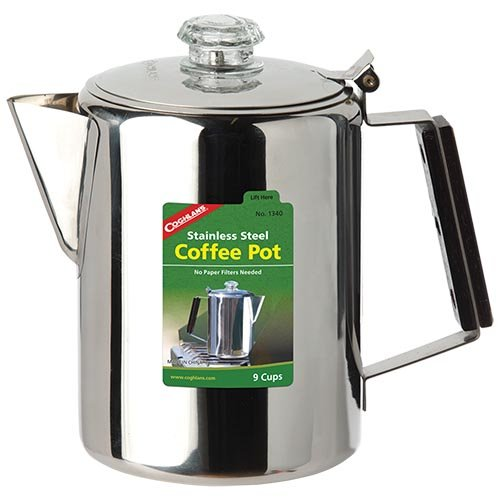 Coghlans 9 Cup Stainless Steel Coffee Pot