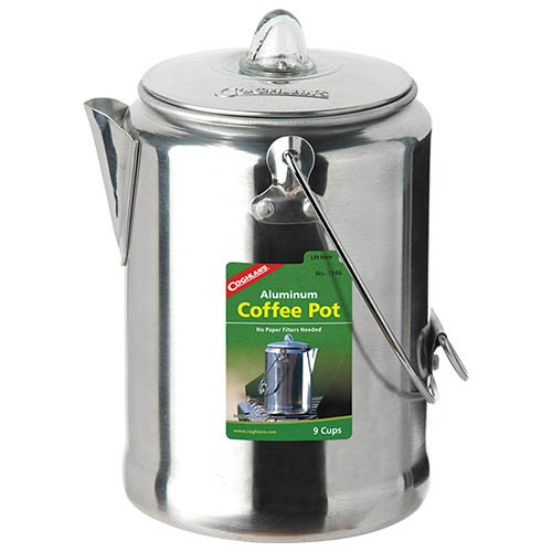 Coghlans 9 Cup Aluminum Coffee Pot
