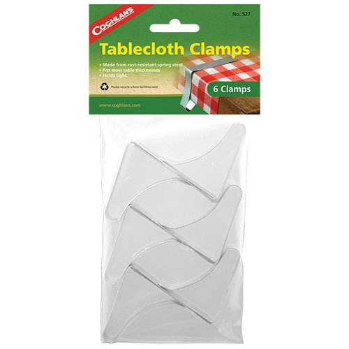 Coghlans 527 6 Pack Tablecloth Clamps