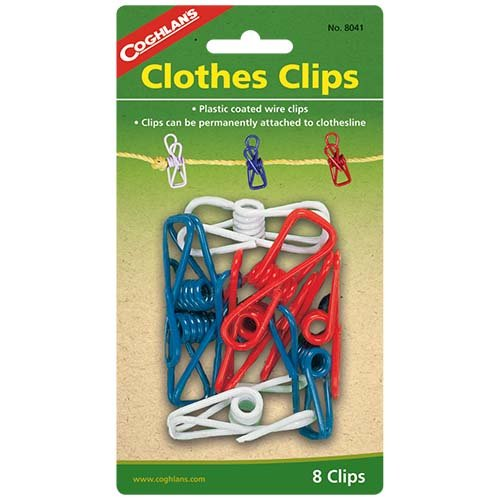 Coghlans 8041 8 Pack Clothes Clips
