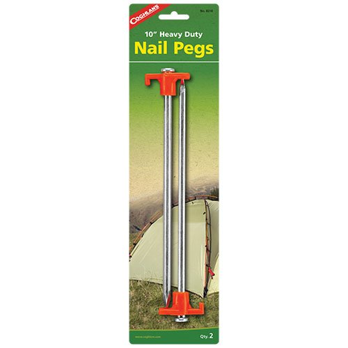 Coghlans 8310 10 Inches 2 Pack Nail Pegs