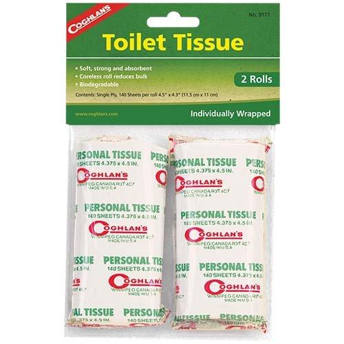 Coghlans 9177 Toilet 2 Pack Tissue