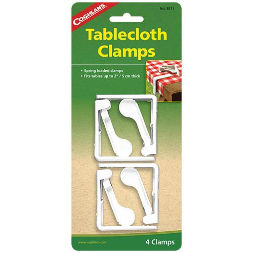 Coghlans 9211 Tablecloth 4 Pack Clamps
