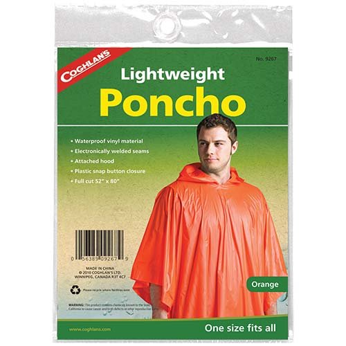 Coghlans 9267 Orange Poncho