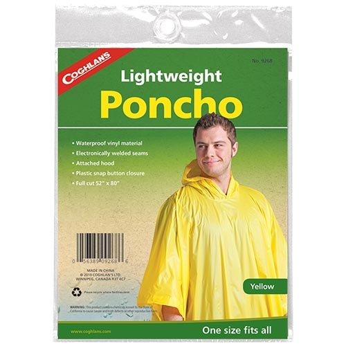 Coghlans 9268 Yellow Poncho