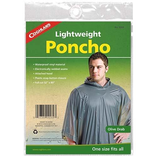 Coghlans 9269 Olive Drab Poncho