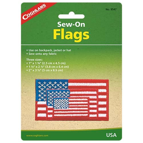 Coghlans 9547 Sew-On U.S.A. Flags