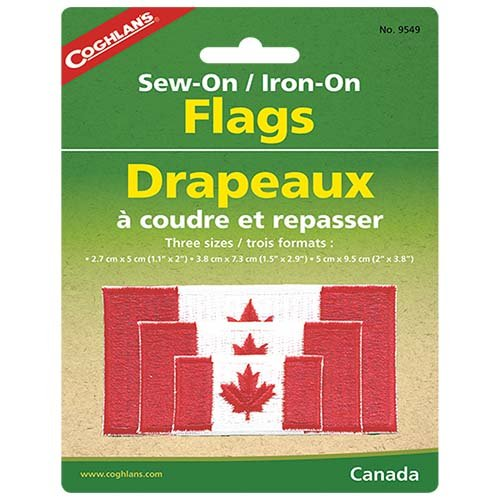 Coghlans 9549 Sew-On Canada Flags