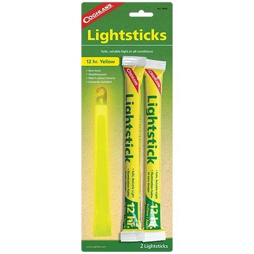 Coghlans 9840 Yellow 2 Pack Lightsticks