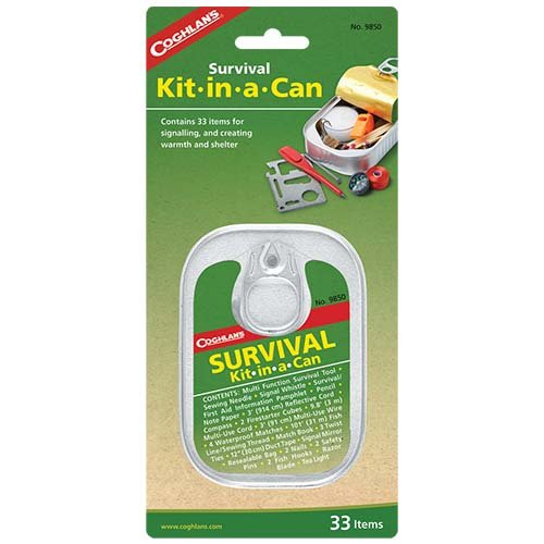 Coghlans 9850 Survival Kit-In-A-Can