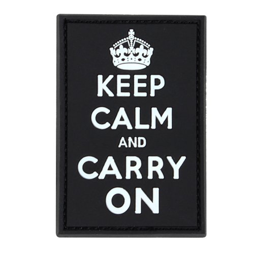 Condor Keep-Calm Carry-On Moral Patches - White