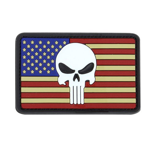 Condor Punisher Classic Flag Patches - Red/White/Blue