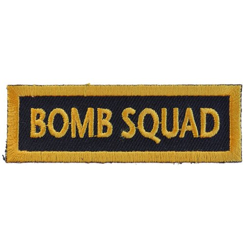 Bomb Squad Funny Name Tag Patch - 3x1 Inch