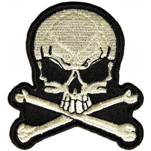 CP 2.5x2.75 Inch Skull and Bones Small Patch
