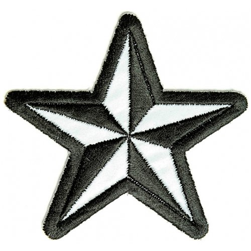 Reflective Nautical Star Patch - 3x3 Inch