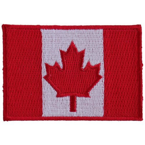 Canada Flag Small Patch - 3x2 Inch