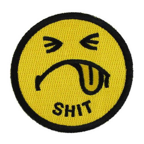 Shit Smiley Face Patch